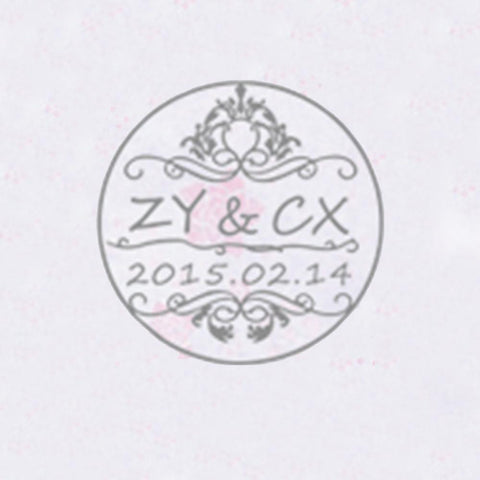 Personalized Initials with Date Wax Seal Stamp Design Your Own - Style 200-25MM