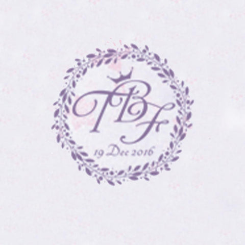 Personalized Initials with Date Wax Seal Stamp Design Your Own - Style 302-25MM