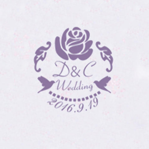 Personalized Initials with Date Wax Seal Stamp Design Your Own - Style 330-25MM
