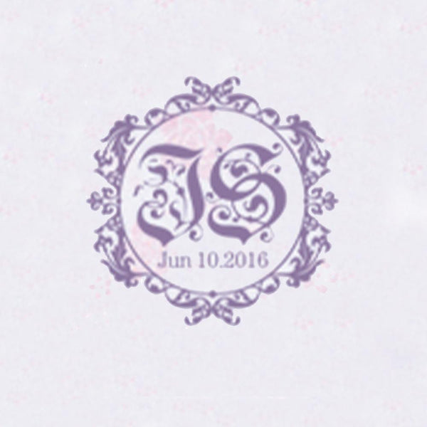 Personalized Initials with Date Wax Seal Stamp Design Your Own - Style 332-25MM