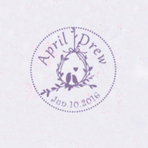 Personalized Initials with Date Wax Seal Stamp Design Your Own - Style 340-25MM