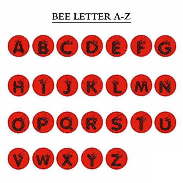 Bee Letter A-Z &  Wax Seal Stamp