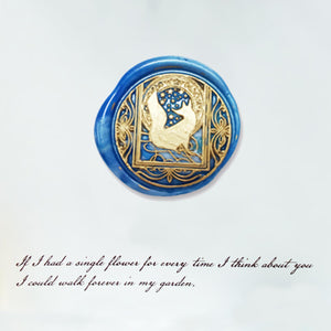 Starry Fox Wax Seal Stamp