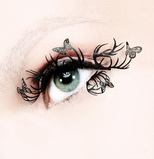 Load image into Gallery viewer, Deer & Butterfly Paperself Paper Lashes on Model
