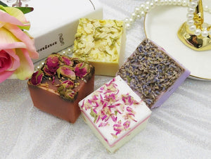 Open image in slideshow, Certified Organic Soap For Face & Body. Luxurious Quartet Set of 4 pieces (AU Stock)