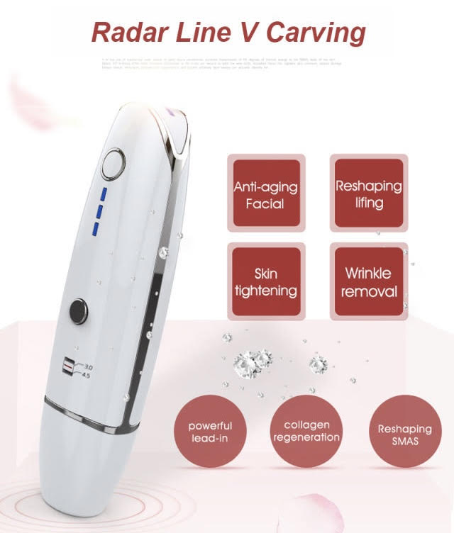 RF HIFU (High-Intensity Focused Ultrasound) Skin Tightening Wrinkle Remover Beauty Device Home Kit (AU Stock)