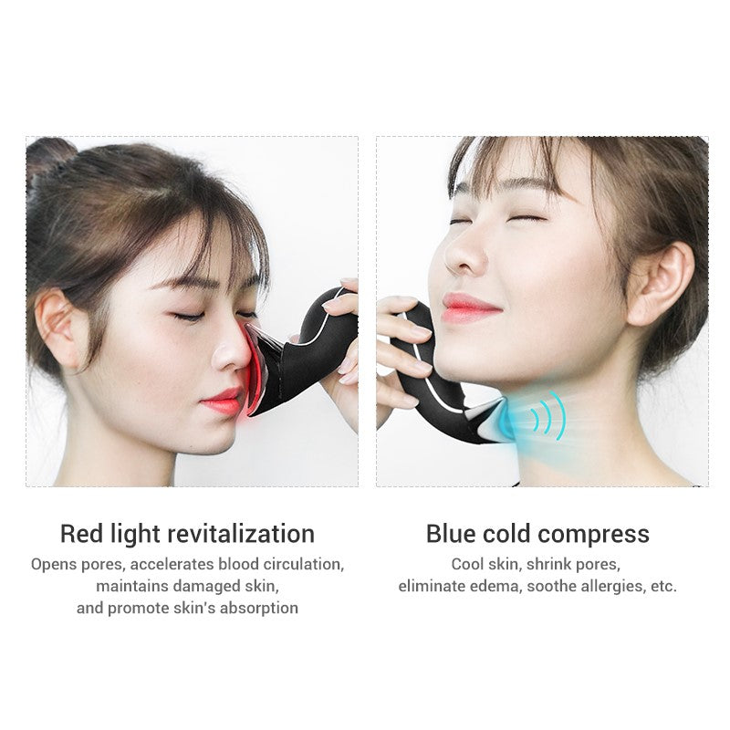 High Frequency Patented 3D Face Lifting & Neck Care Photon LED Light Therapy Hot & Cold. High Frequency Sonic Vibration 12,000x/min (AU Stock)