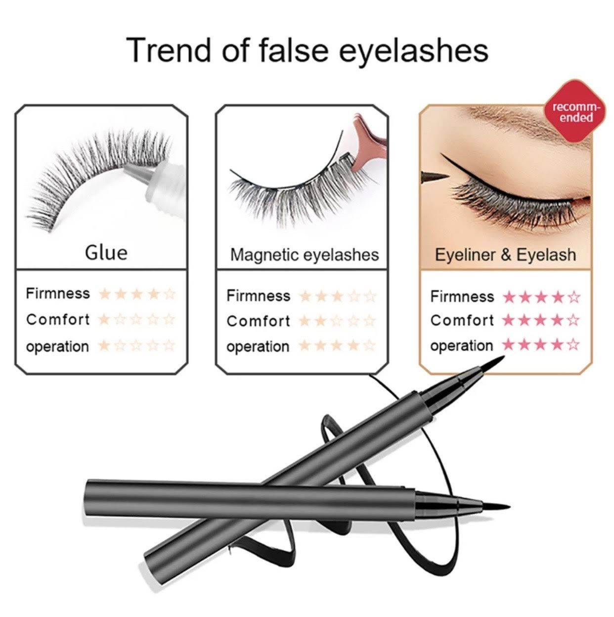 No Glue ! No Magnets ! iAgeless Magic Eyelash Kit (3 Pairs) + Patented Magic Liner + Mascara + Eyelash Curler (AU Stock) - iAgeless Beauty