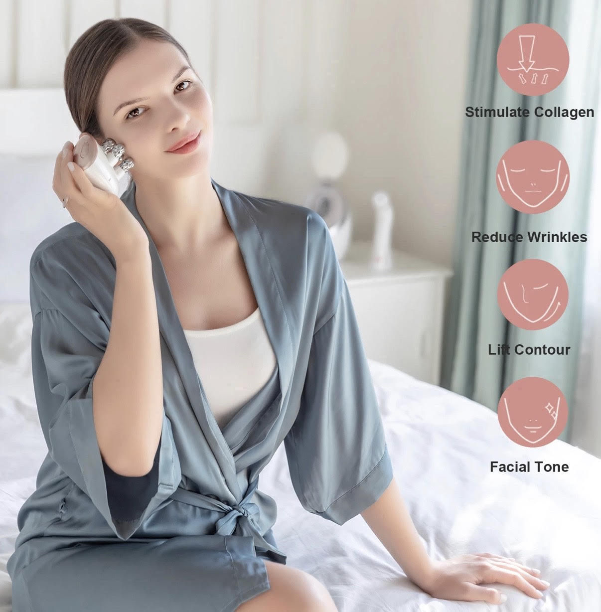 EMS Electronic Muscle Stimulation & RF Radio Frequency Skin Tightening & Face Lifting Massager (AU Stock)