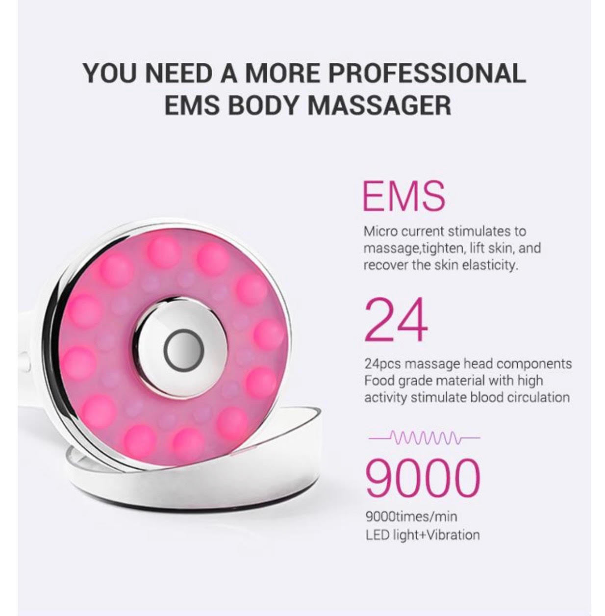 EMS Microcurrent Breast Firming Body Shaping Device Massager (AU Stock)