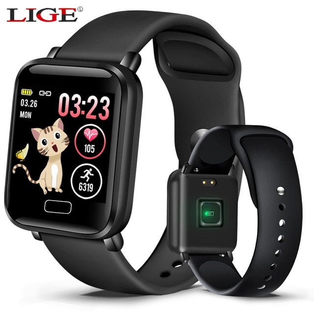 LIGE Men Sport Digital Watch LED