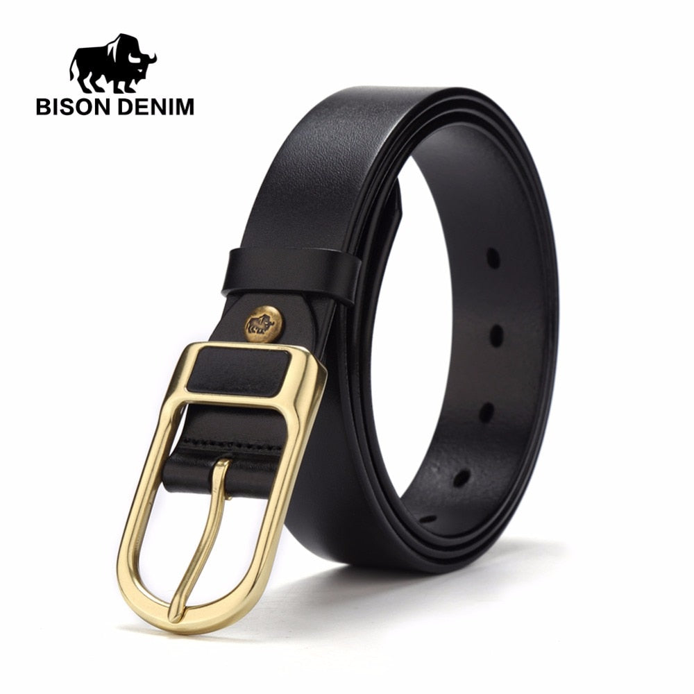 BISON DENIM Cowskin Classic Belt N71011