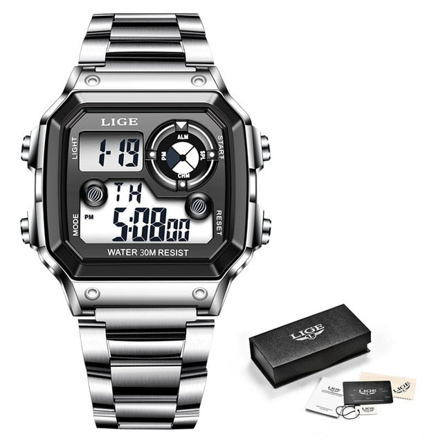LIGE Electronic Men Sport Watch