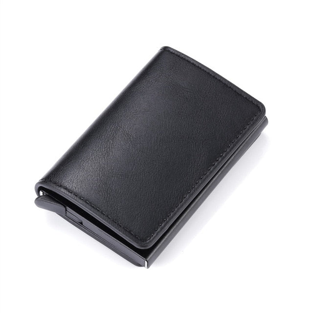 BISI GORO 2021 Business ID Credit Card Holder Men and Women Metal RFID