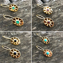 Load image into Gallery viewer, Turquoise Mini Star Earrings Gold