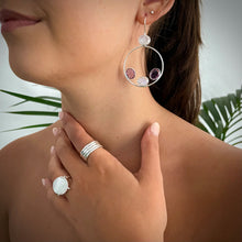Load image into Gallery viewer, Amethyst and Moonstone Earrings
