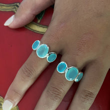 Load image into Gallery viewer, Aqua Chalcedony Ring Silver