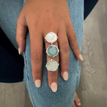 Load image into Gallery viewer, Chalcedony Round Ring Silver
