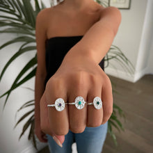 Load image into Gallery viewer, Turquoise Star Ring Silver