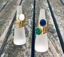 Load image into Gallery viewer, Malachite Ring Gold