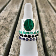 Load image into Gallery viewer, Malachite Ring Silver