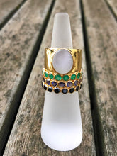 Load image into Gallery viewer, Mother of Pearl Ring Gold
