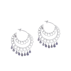 Iolite Beaded Hoop
