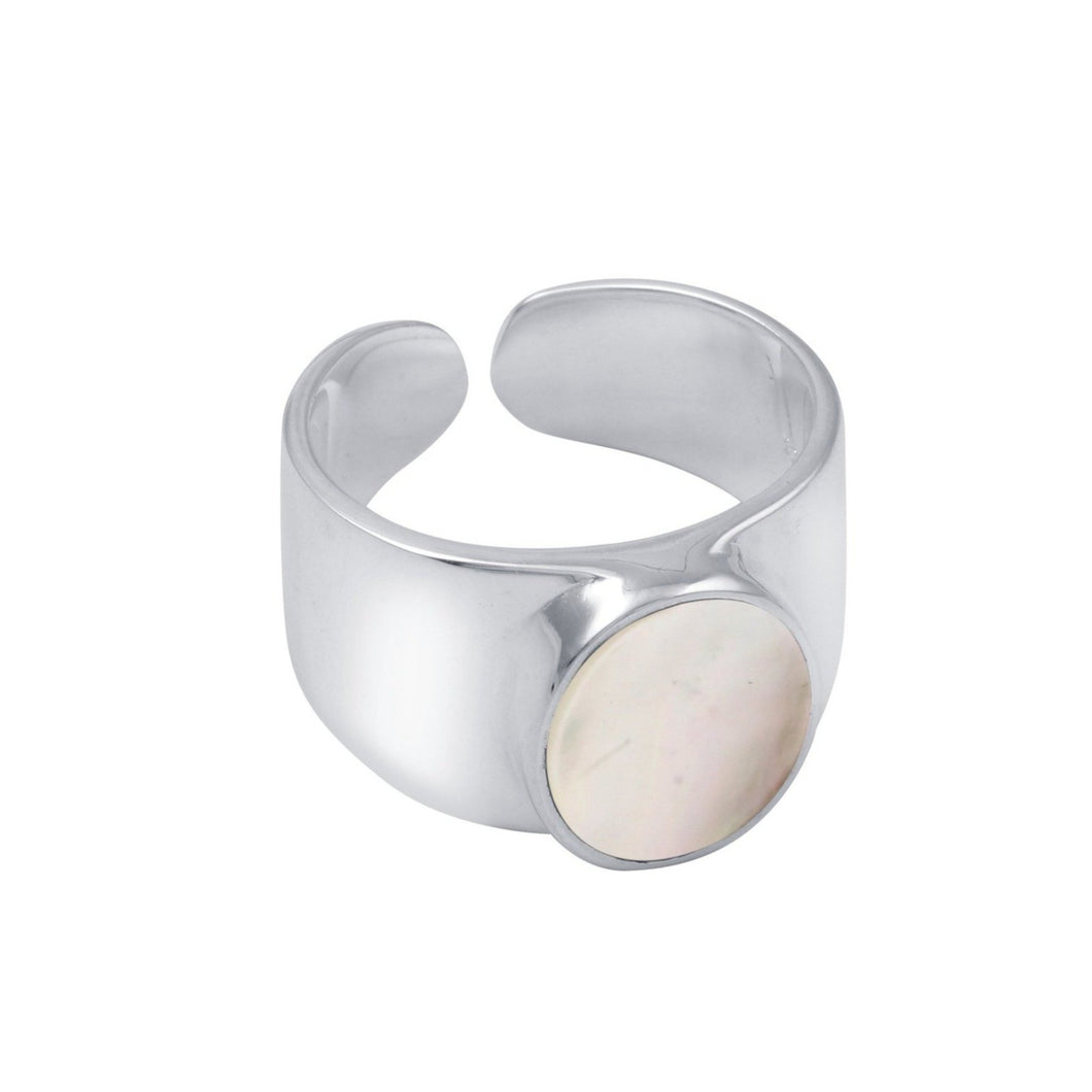 Mother of Pearl Ring Silver