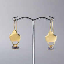 Load image into Gallery viewer, Iolite Beaded Earrings Gold