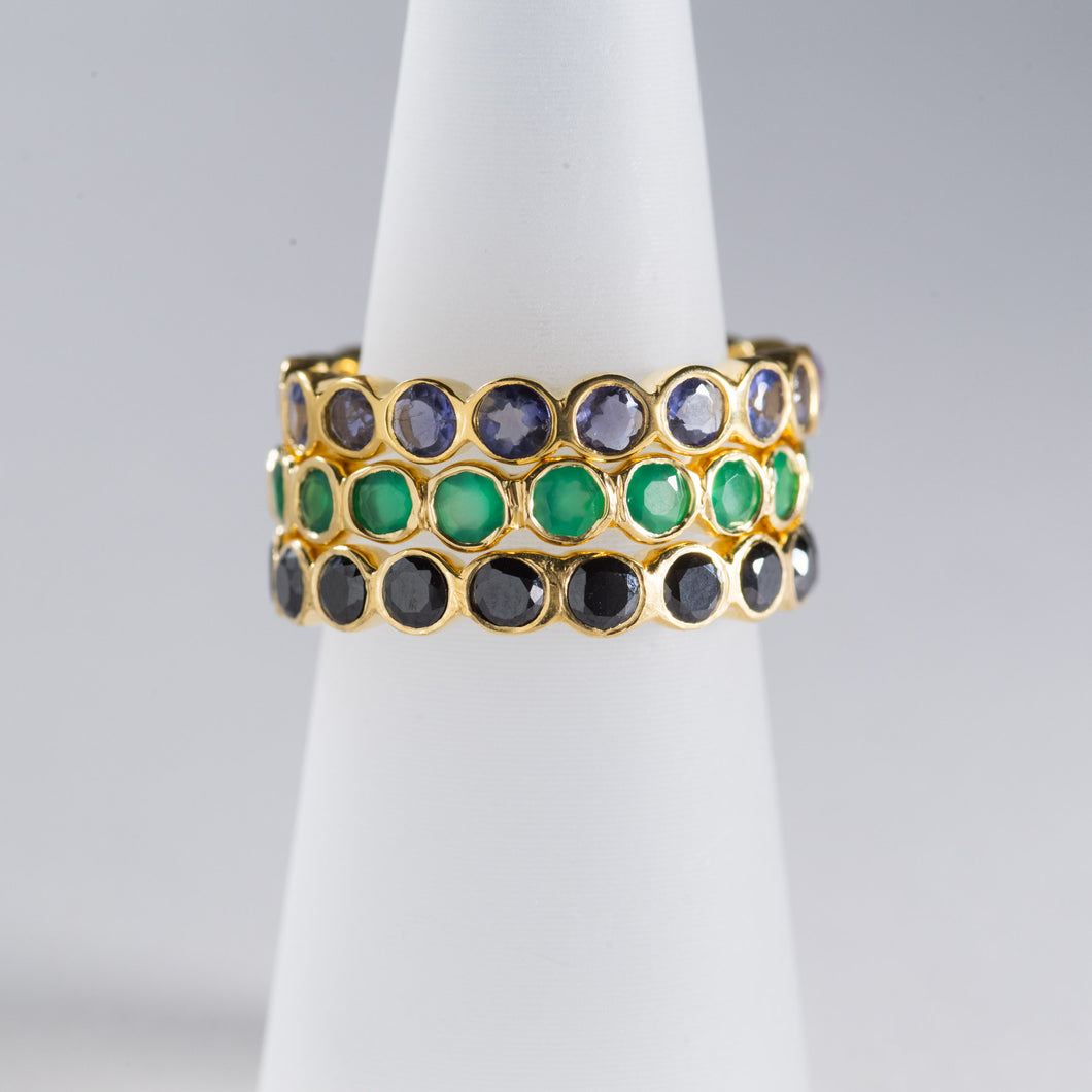 Eternity Ring Stack Gold