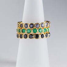 Load image into Gallery viewer, Iolite Eternity Ring Gold