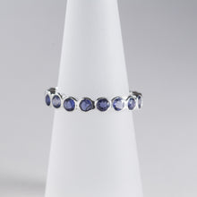 Load image into Gallery viewer, Iolite Eternity Ring Silver