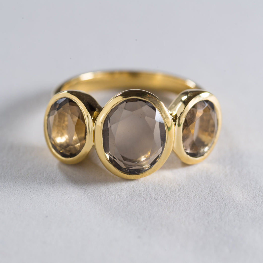 Smoky Quartz Ring Gold