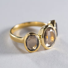 Load image into Gallery viewer, Smoky Quartz Ring Gold