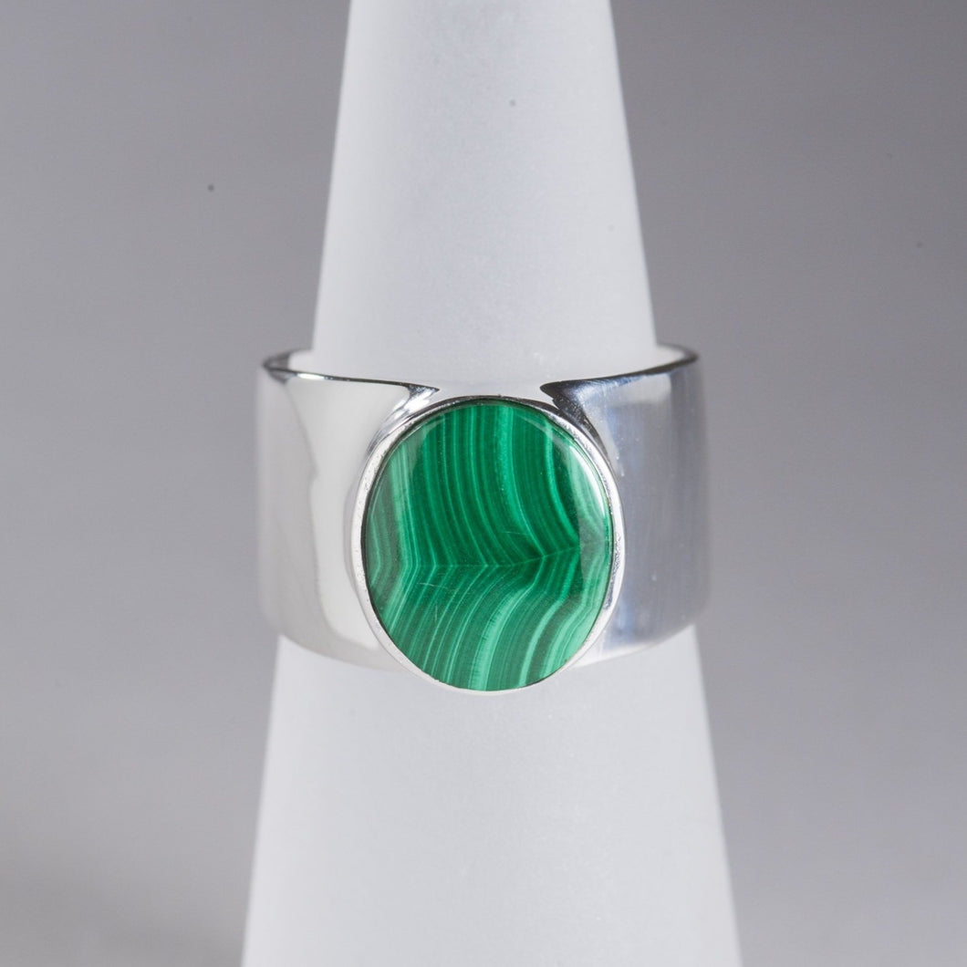 Malachite Ring Silver