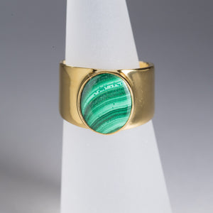 Malachite Ring Gold