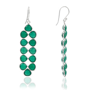 Green Onyx Chandelier Earrings