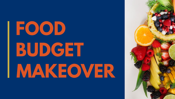 Food Budget Makeover System [Video, Printable Planner Pages, Worksheets, Spreadsheets]