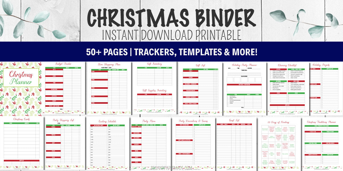 christmas binder bundle printable