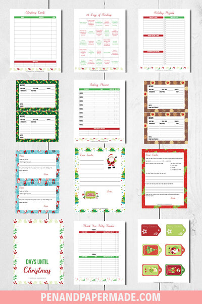 product image for christmas planner binder printable