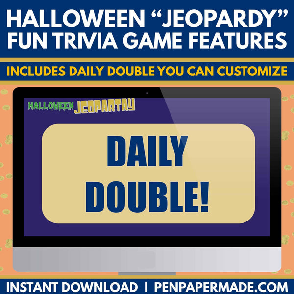Halloween Jeopardy Trivia Game + Candy Crushin [CoEd Party Game]