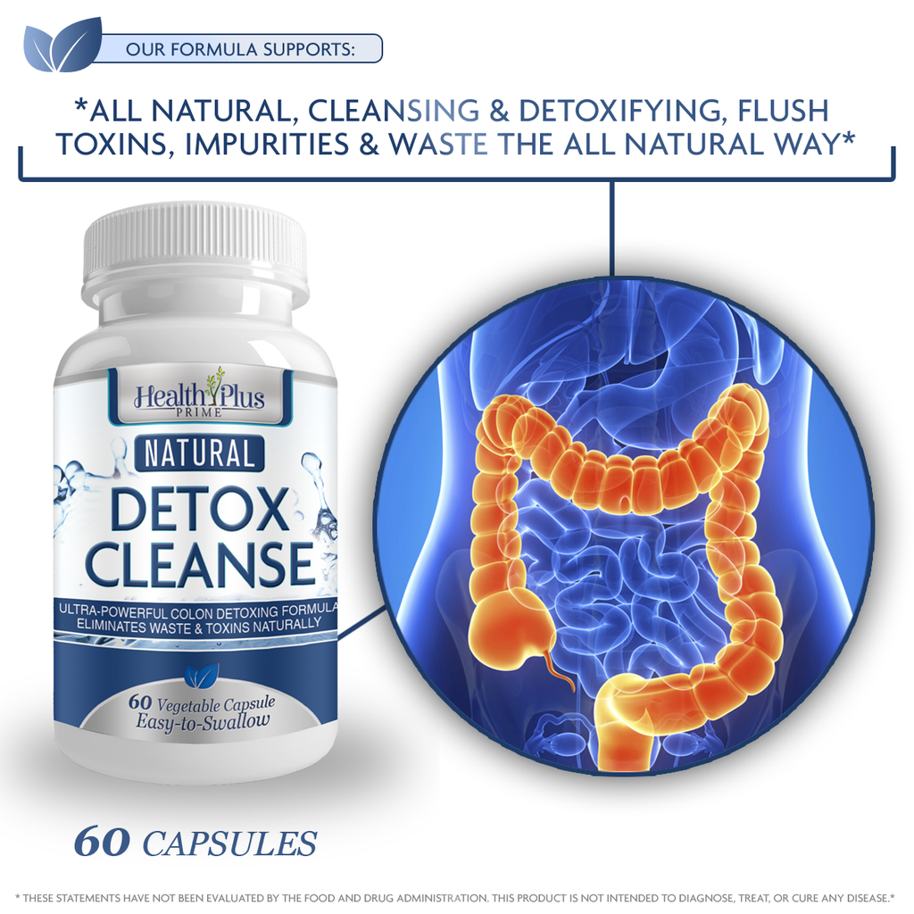 Safe & Natural Detox Cleanse, Perfect Blend For Complete Cleansing & Detoxifying!