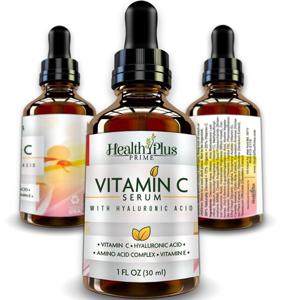 Professional Clinical Strength Vitamin C Serum With Vitamin E And Hyaluronic Acid