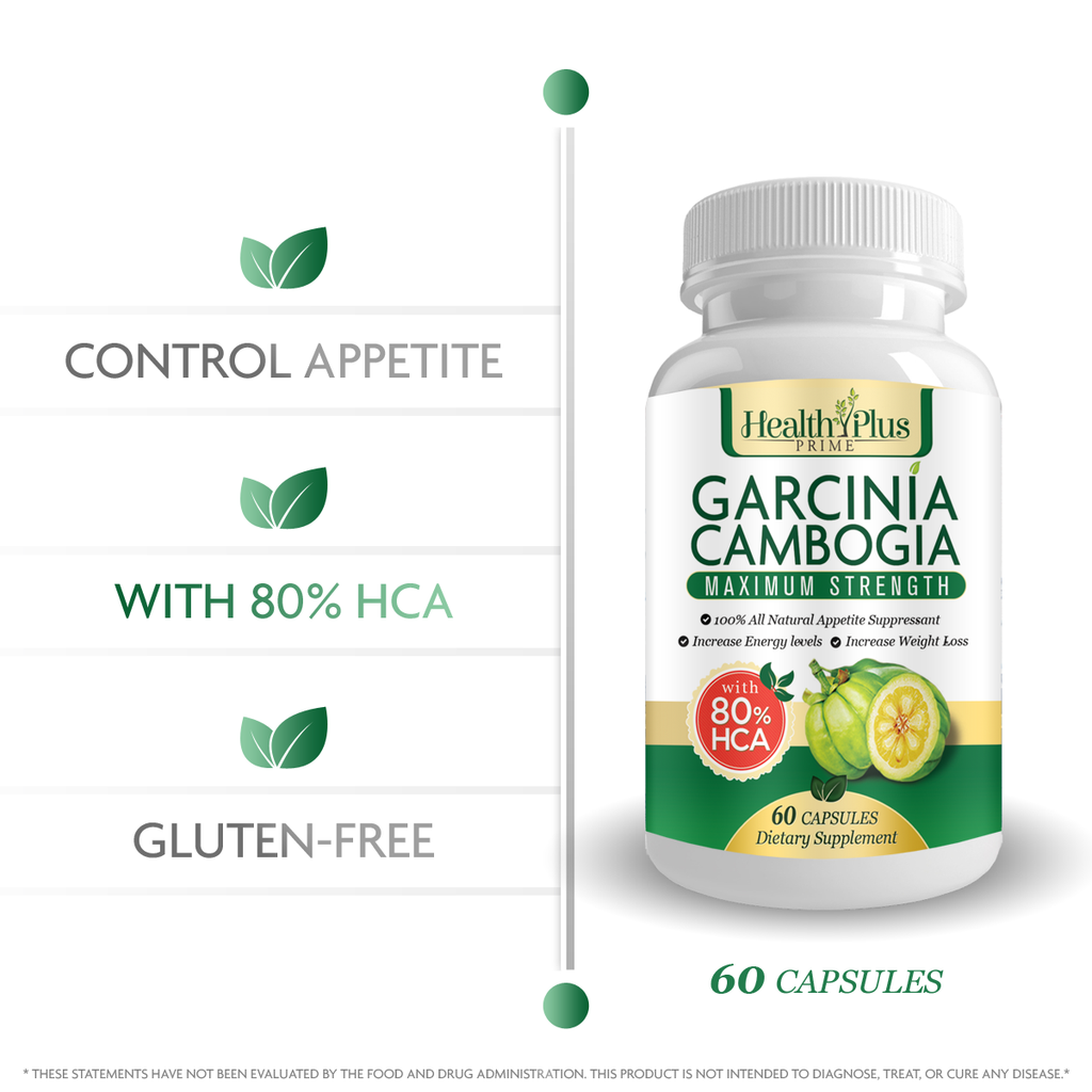 80% HCA Pure Garcinia Cambogia Premium Extract All Natural Appetite Suppressant and Garcinia Cambogia Weight Loss Supplement Formula. Ultra Easy Swallow Pills. 60 Capsules. Made in the USA