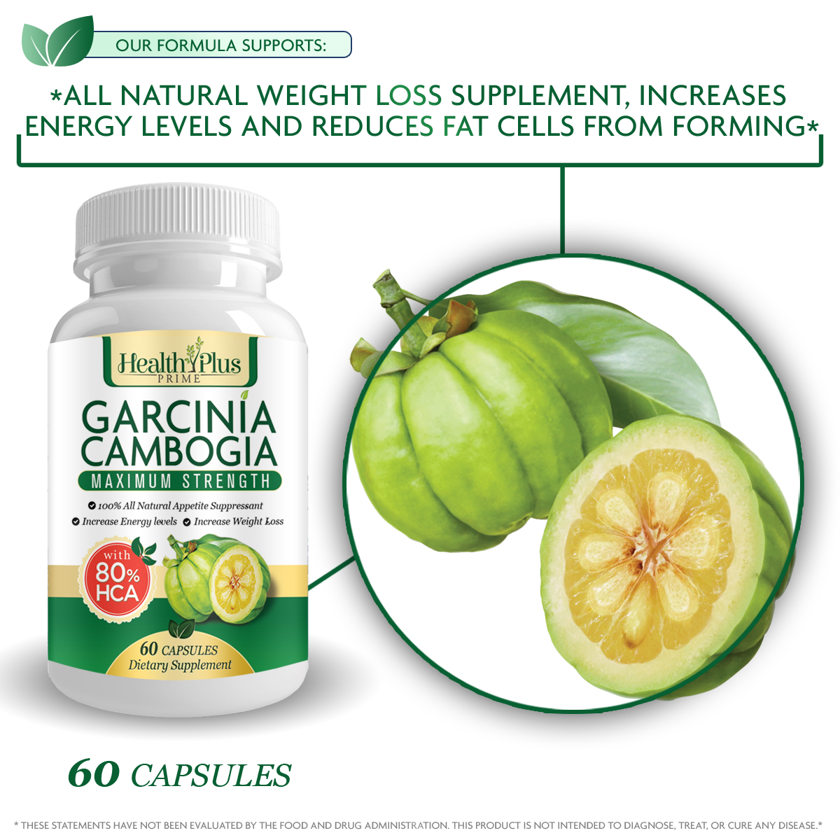 80 Hca Pure Garcinia Cambogia Premium Extract All Natural Appetite Suppressant And Garcinia Cambogia Weight Loss Supplement Formula Ultra Easy