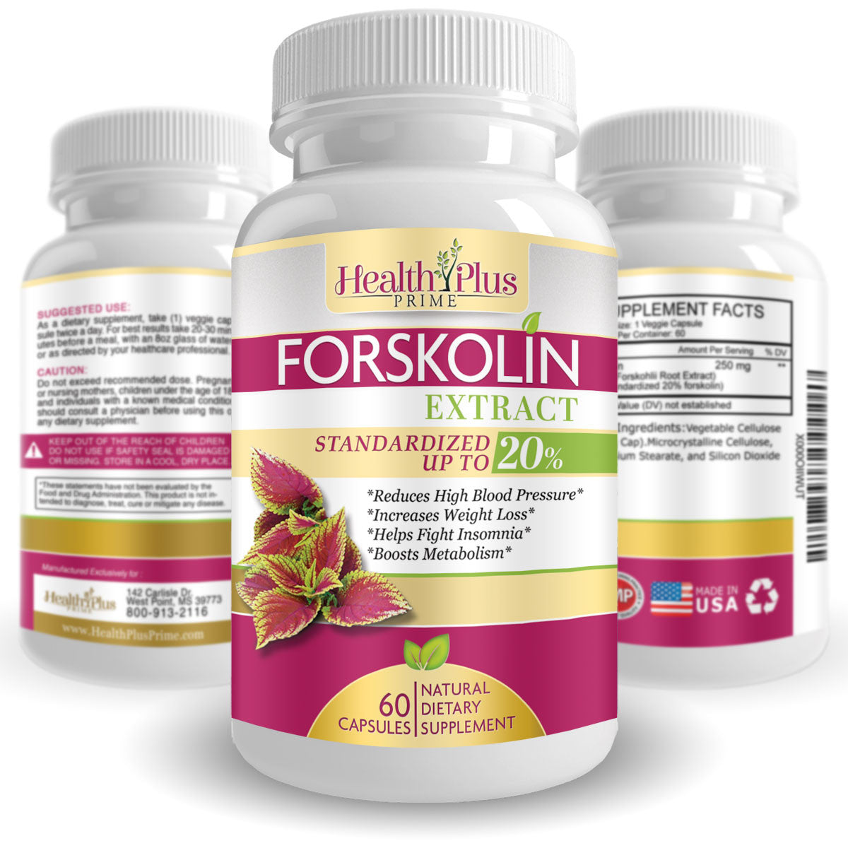 Forskolin Extract Appetite Suppressant Weight Loss Supplement