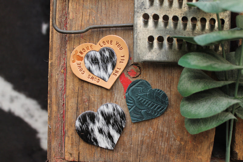 Love You Til The Cows Come Home heart magnet set