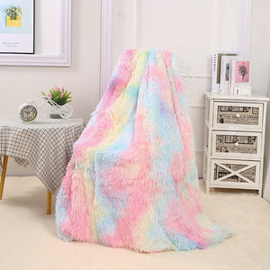 Rainbow Plush Super Soft Blanket Multiple colors available