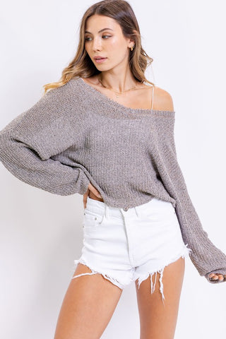Coastal Cropped Sweater