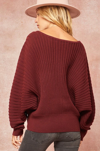 Merlot Detailed Sweater